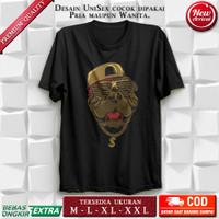 T shirt Kaos Pria Distro Original DTG Super Premium Hip Hop Pitbull XL - Hitam, M