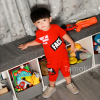 Baju/Setelan Kaos anak Laki Laki SAMO Import Premium Branded S-195 - Merah, S