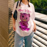 Baju Oversize Teddy Bear Kaos Oversize Oversize Tshirt Oversize Polos