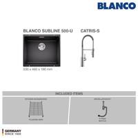 BLANCO Subline 500-U Silgranit Sink+ Kran Air BLANCO Catris-S Chrome