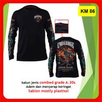 Kaos Baju Motor Underage T shirt Brotherhood Lengan Panjang KM 86