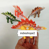 Dino Brontosaurus Stegosaurus Putar Dinosaurus Bronto Berjalan Key cha - Orange