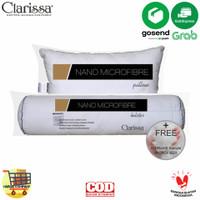 Paket Bantal Guling Nano Microfiber Bulu Angsa Sintetis Paket Clarissa - Tanpa Bonus