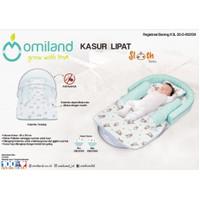 Kasur bayi lipat Omiland + kelambu Sloth series - OB21151 / OB21152
