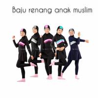 usia 8-13 Thn baju renang anak muslimah tanggung hijab cewek sd smp