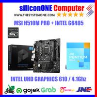 Paket MSI H510M-PRO + Pentium G6405 G6400