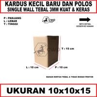 Kardus Box Karton Polos Uk 10x10x15