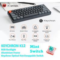 Keychron K12 Hot-swappable Optical Switch RGB Backlight Aluminum Frame