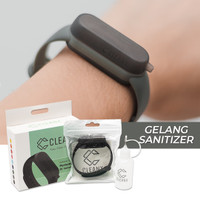 CLEANX BAND | Gelang Sanitizer Refillable Wristband - HITAM