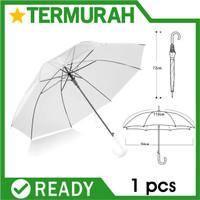 payung korea transparan lipat polos jepang japan bening putih umbrella