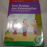 Preloved Buku Seni Budaya Keterampilan (SBK) Erlangga KTSP Kelas Sd 6