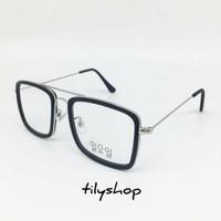 Frame Kacamata Minus Fashion Square Tony Stark Style 16006 Termurah