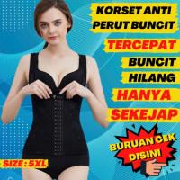GI24G Korset Stagen Baju Pelangsing Melahirkan Pembakar Lemak Perut - Nude, 4XL