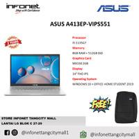 ASUS A413EP-VIPS551 i5 1135G7 8GB 512GB SSD MX330 2GB 14 FHD IPS W10