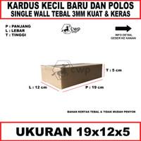 Kardus Polos Ukuran19x12x5