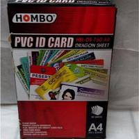 KERTAS PVC ID Card 0,76 White A4 MERK HOMBO/KERTAS PVC KARTU NAMA