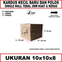 Kardus/Box/Karton Polos uk10x10x8