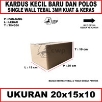 Kardus Box Karton Ukuran20x15x10