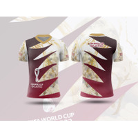 Kaos Baju Tshirt Pria Piala Dunia FIFA 2022 Qatar Sepak Bola Art 01
