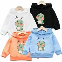 Sweater Hoodie Baju Anak Cute Chibi Dinosaurus Unisex