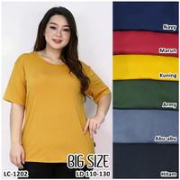 Kaos Oblong Wanita Baju Murah Atasan Polos Melar Jumbo Size LC 1503