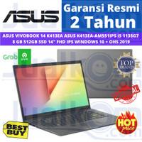 "ASUS K413EA-AM551IPS i5 1135G7 8GB 512ssd 14""FHD IPS W10+OHS BLACK"
