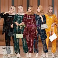 Set Baju Setelan Rayon Jumbo Ibu Wanita Muslim Dewasa Terbaru Kekinian