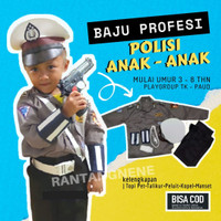 Paket Komplit Baju Polisi Kecil Pocil Seragam Kostum Karnaval Anak TK