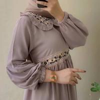 Gamis Wanita Terbaru Belova Dress Fashion Muslim Busui Aksen Bordir