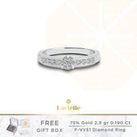 Cincin Emas Berlian Eropa F VVS Lucielle Jewelry Diamond Ring - PB44R
