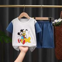 baju bayi unisex, setelan kaos, katun - 9-12 Bulan