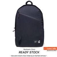 Tas Backpack Ransel Anti air Chico by JFK - Garansi Resmi 1 Tahun - Full Jet black