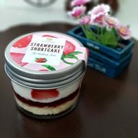 Soft Strawberry Short Cake || individual (mini) cake in jar | Premium