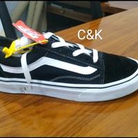 Sepatu Vans Old Skool Original Classic Black White/ Super Murah - 37