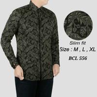 Batik , kemeja slimfit pria,baju batik cowo lengan panjang D 822