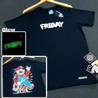 kaos pria kaos distro friday killer glow in the dark baju pria M L XL