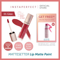 Wardah Instaperfect Mattesetter Lip Matte Paint 5.5 g - 01 Glee