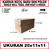 Kardus Box Polos Ukuran20x11x11