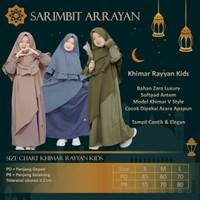 Baju Sarimbit RAYYAN Couple Pasangan Keluarga Muslim Suami Istri Anak - Khimar Kid, M