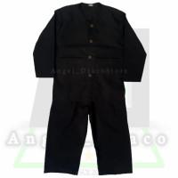 Baju Pangsi Anak 1-13Tahun / Stelan Baju Pangsi Anak / Baju Silat Anak - Hitam, 3 (1-3 Thn)