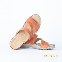 Sonne Anne 8006 - Sandal Kulit Wanita - Orange, 38