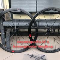 Wheelset Rujixu 40mm 700C V/C Rim Brake Alloy Black Color 1900g - New 18 Spokes