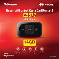 MIFI 4G LTE Huawei E5577 Paket Kartu Telkomsel Free 14gb 1 Bulan