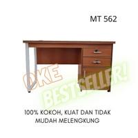 Meja Tulis Kantor Minimalis Murah Grace MT - 562 - coklat kayu