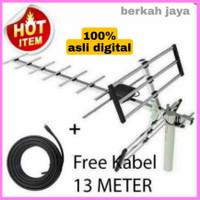antena tv digital + kabel 13 meter dijamin BENING