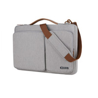 Laptop HP 14S 14 Inch Tas Sleeve Cover With Strap Nylon Grey Case