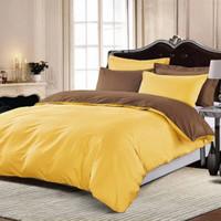 bed cover set katun jepang warna kuning bisa mix warna ukuran 160 t25