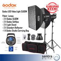 Paket GODOX SL-60W /SL60W/SL60 W - Lighstand Softbox Bag- LED Studio