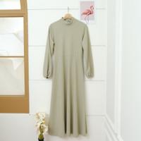 Gamis Wanita model bahan Babat Premium / Pakaian wanita / Baju muslim - Hijau