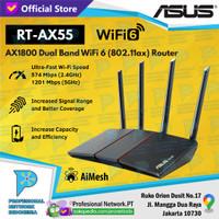 ASUS RT-AX55U AX55 Wireless Router Dual Band AiMesh WiFi 6 AX1800